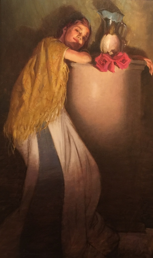 Title: Roses for Mom , Size: 40 x 24 , Medium: Oil on Canvas