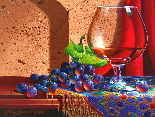 Title: REFLECTIONS IN GLASS , Size: 9 x 12 , Medium: Oil on Canvas