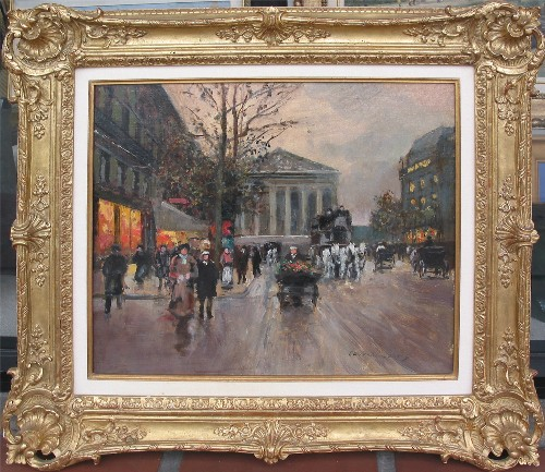 Title: RUE ROYALE, LA MADALENE - PARIS , Size: 18 x 21 , Medium: Oil on Canvas
