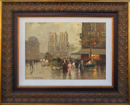 Title: PLACE ST. MICHELLE , Size: 13 x 16 , Medium: Oil on Canvas