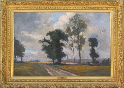 Title: PAYSAGE EN NORMANDIE , Size: 25.5 x 36 , Medium: Oil on Canvas