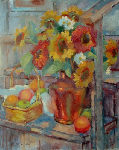 Title: BACK PORCH , Size: 30 x 24 , Medium: Oil on Canvas