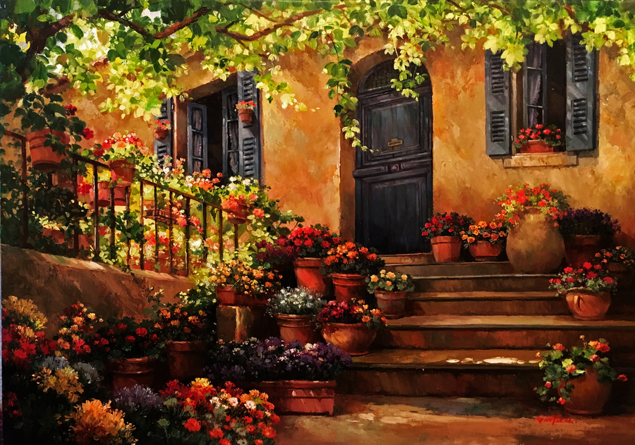 Title: Tuscany the Beautiful , Size: 30 x 40 , Medium: Oil on Canvas