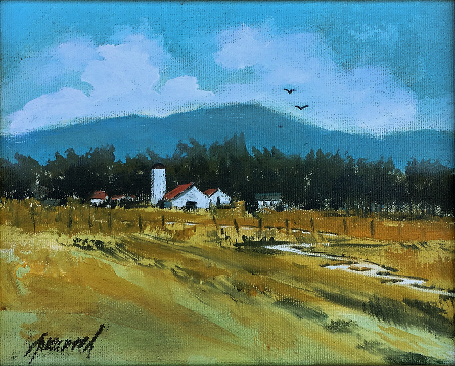 Title: Country Fields , Size: 8 x 10 , Medium: Oil on Canvas
