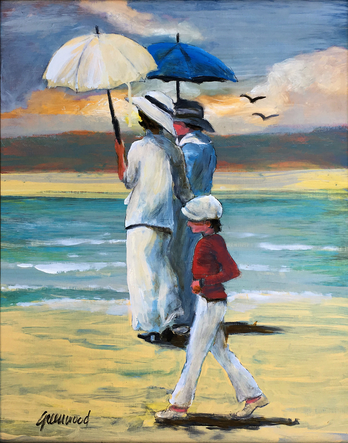 Title: Beach Outing , Size: 20 x 16 , Medium: Oil on Panel