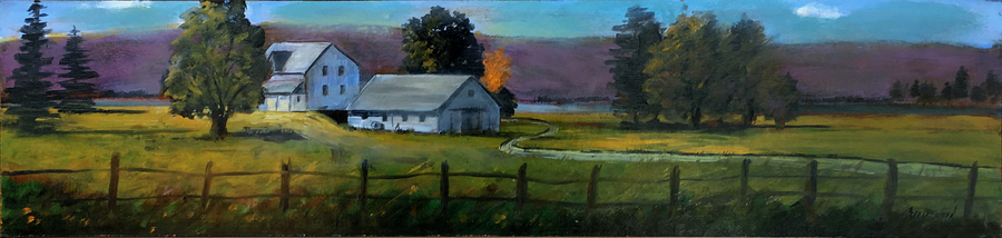Title: Moments in Country , Size: 6 x 24 , Medium: Oil on Panel