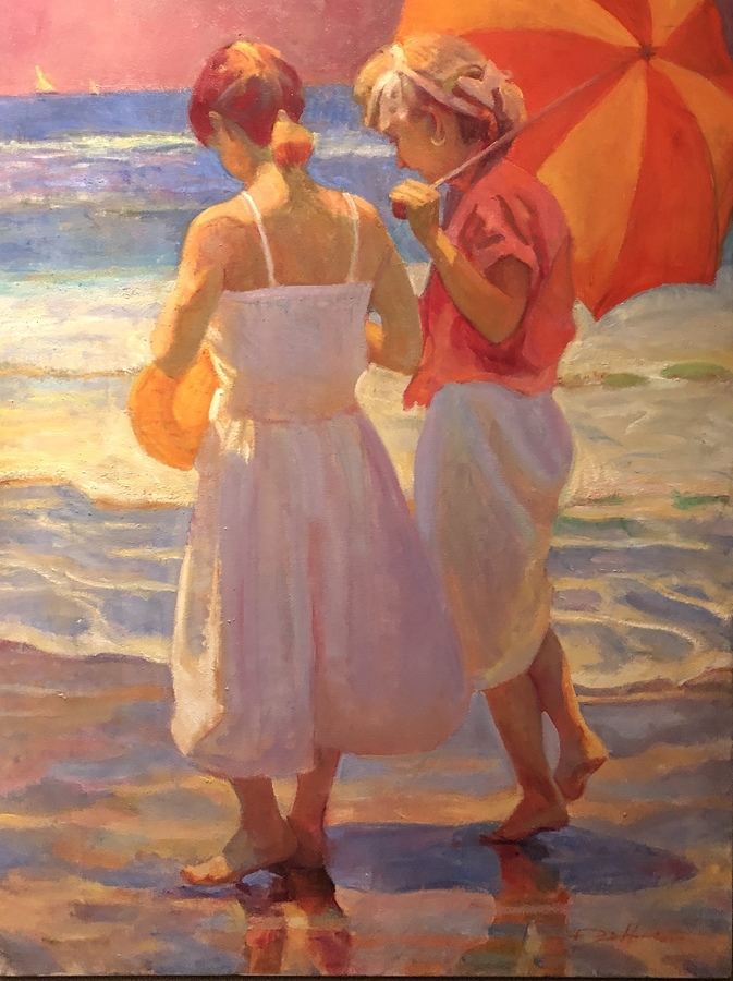Title: On the Beach , Size: 40 x 30 , Medium: Oil on Canvas