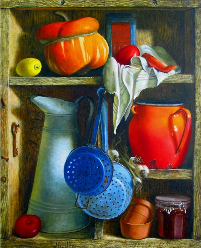 Title: OLD PANTRY , Size: 40 x 32 , Medium: Oil on Canvas