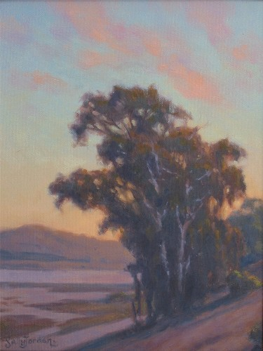 Title: BATIQUITOS SUNSET , Size: 16 x 12 , Medium: Oil on Panel