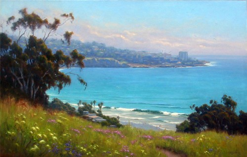 Title: LA JOLLA MAGNIFICENT , Size: 35 x 55 , Medium: Oil on Canvas