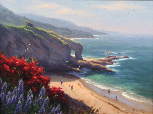 Title: LA JOLLA COVE BATHERS , Size: 16 x 20 , Medium: Oil on Canvas