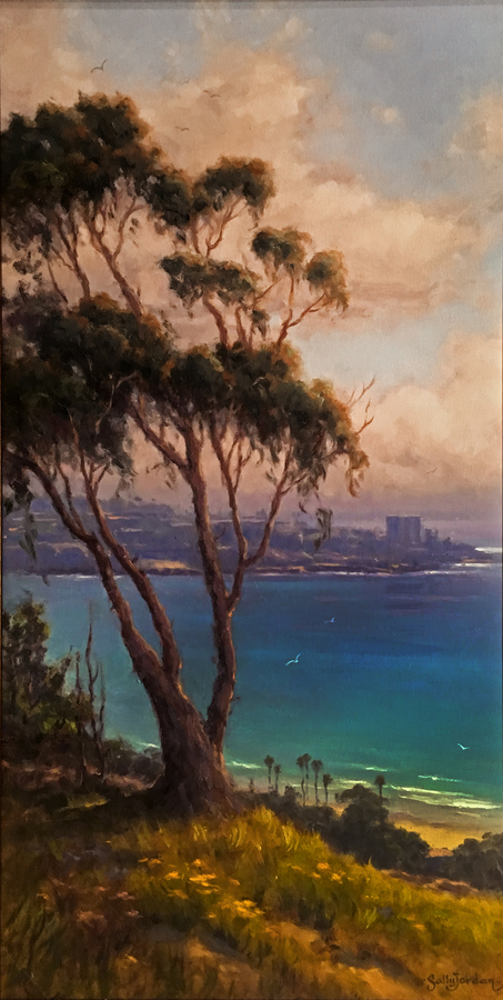 Title: Overlooking La Jolla , Size: 30 x 15 , Medium: Oil on Panel