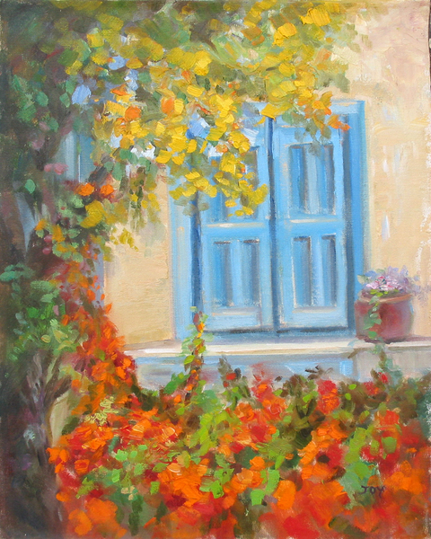 Title: BLUE WINDOW , Size: 20 x 16 , Medium: Oil on Canvas
