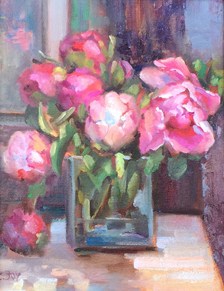 Title: PEONIES , Size: 13 x  10 , Medium: Oil on Panel