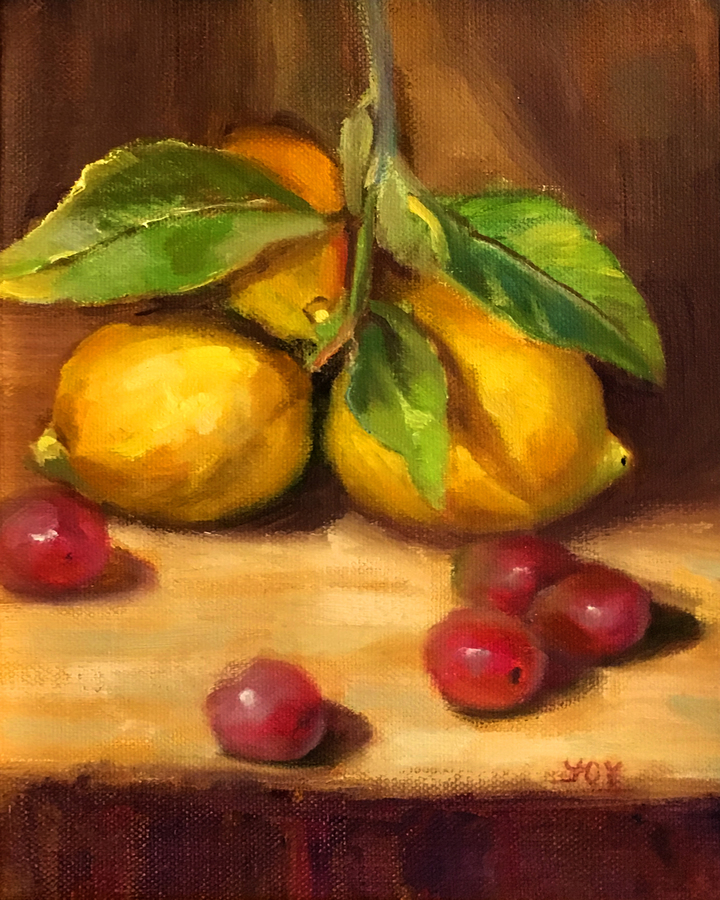 Title: Lemons , Size: 10 x 8 , Medium: Oil on Panel