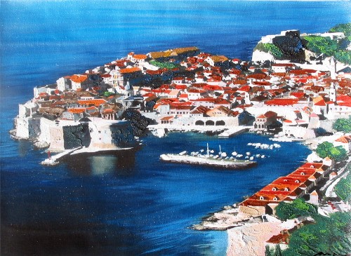 MARO - DUBROVNIK IN BLUE border=