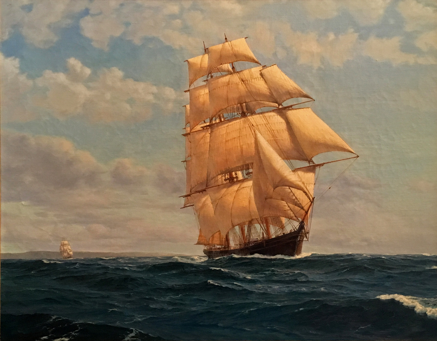 Title: Pacific Voyage , Size: 24 x 30 , Medium: Oil on Panel