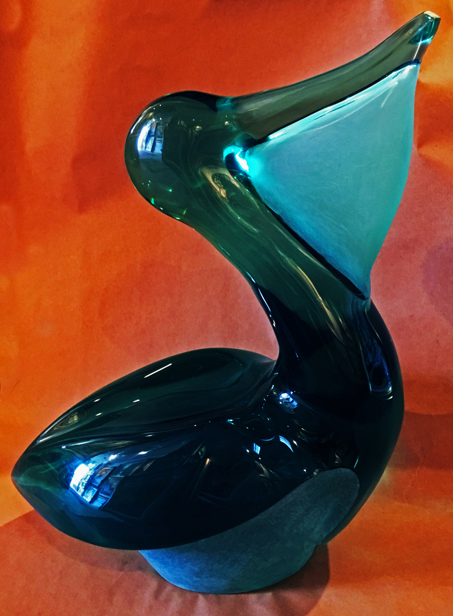 Title: Pelican , Size: 21 high , Medium: Poly Resin