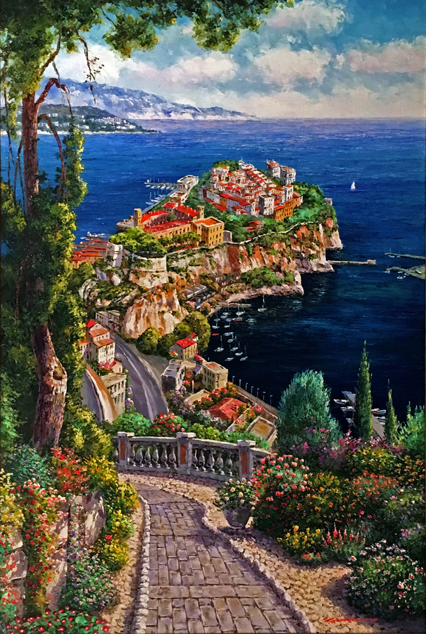 Title: Monte Carlo, Monaco , Size: 40 x 30 , Medium: Oil on Canvas