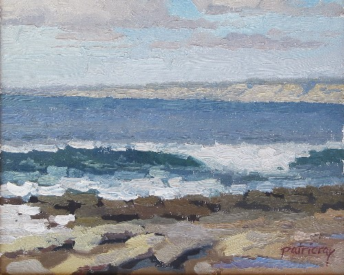 Title: LA JOLLA BREAKER , Size: 8 x 10 , Medium: Oil on Panel