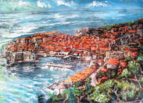 RADANOVIC - ROOFS OF DUBROVNIK border=