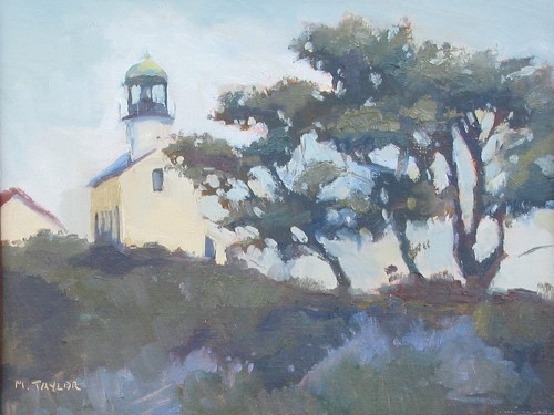 Title: THE OLD LIGHTHOUSE , Size: 9 x 12 , Medium: Oil on Linen