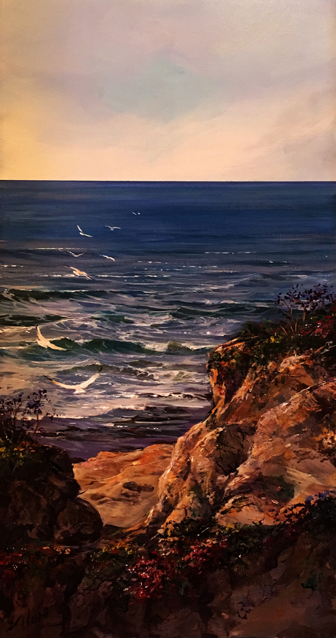 Title: Out to Sea , Size: 16 x 8 , Medium: Oil on Canvas