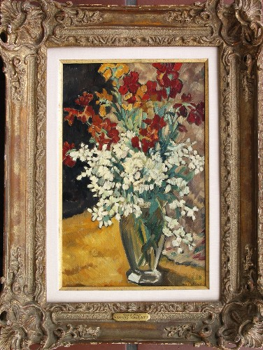 Title: BOUQUET DE FLEURS , Size: 16 x 11 , Medium: Oil on Canvas