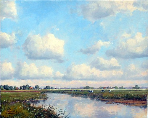 Title: HIGHWAY OF HOLLAND , Size: 16 x 20 , Medium: Oil on Canvas