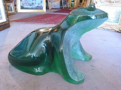 Title: GREEN FROG , Size: 18 OF 48 , Medium: Poly Resin