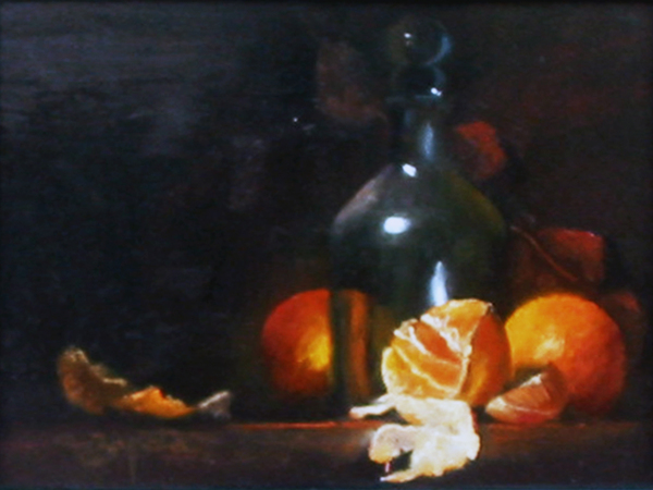 Title: TANGERINES , Size: 9 x 12 , Medium: Oil on Canvas