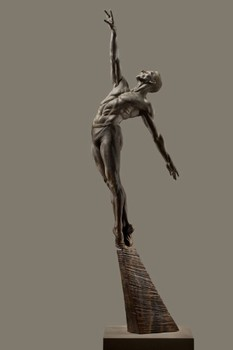 Title: ALLONGE MALE HALF LIFE , Size: 64 x 7 x 18 , Medium: Bronze
