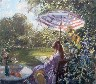 Title: DAY IN THE GARDEN , Size: 27 x 31 , Medium: Oil on Canvas