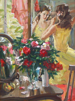 Title: LADY TIME , Size: 40 x 30 , Medium: Oil on Canvas