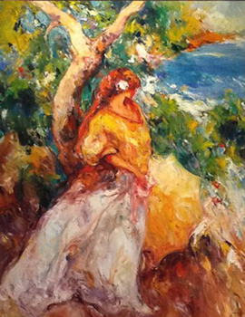 Title: ENTRE PINOS , Size: 57 x 44 , Medium: Oil on Canvas