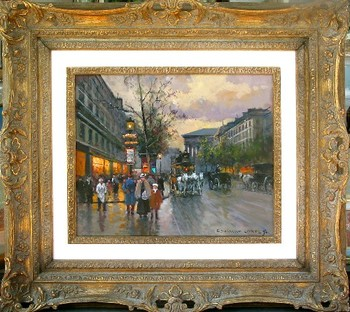 Title: BOULEVARD DE LA MADELEINE , Size: 18 x 22 , Medium: Oil on Canvas