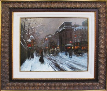 Title: PORTE ST. MARTIN - PARIS , Size: 18 x 21 , Medium: Oil on Canvas