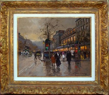 Title: BOULEVARD DU GYMNASE , Size: 18.5 x 21 , Medium: Oil on Canvas