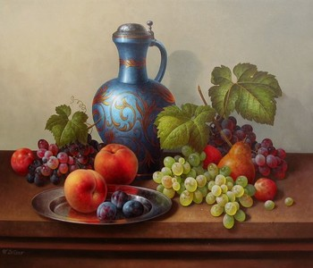 Title: FRUIT COMPOTE , Size: 24 x 28 , Medium: Oil on Canvas