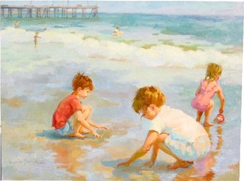 Title: SQUISHY SAND , Size: 30 x 40 , Medium: Oil on Canvas