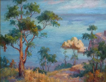 Title: LA JOLLA SUMMER , Size: 24 x 30 , Medium: Oil on Canvas