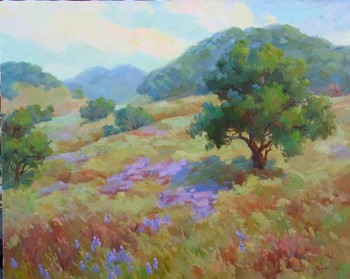 Title: LONE OAK , Size: 30 x 36 , Medium: Oil on Canvas