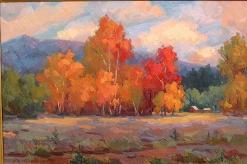 Title: AUTUMN GLORY , Size: 24 x 36 , Medium: Oil on Canvas