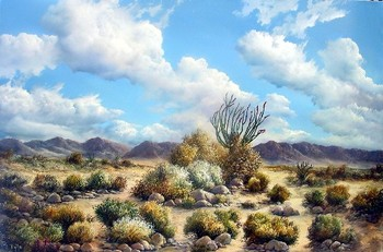 Title: DESERT GLORY , Size: 24 x 36 , Medium: Oil on Canvas