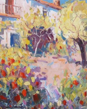 Title: PATIO DE ANDALUCIA , Size: 10 x 8 , Medium: Oil on Canvas