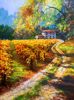 Title: Chianti Moments , Size: 40 x 30 , Medium: Oil on Canvas