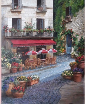 Title: Tuscan Love , Size: 24 x 20 , Medium: Oil on Canvas