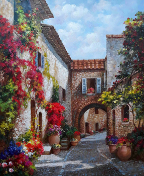 Title: For the Love of Tuscany , Size: 24 x 20 , Medium: Oil on Canvas