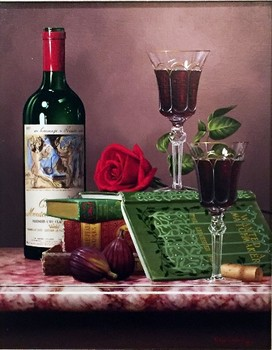 Title: ROSE FOR LOVE , Size: 18 x 14 , Medium: Oil on Canvas