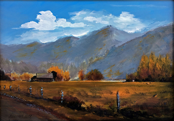 Title: Autumn , Size: 11 x 14 , Medium: Oil on Panel